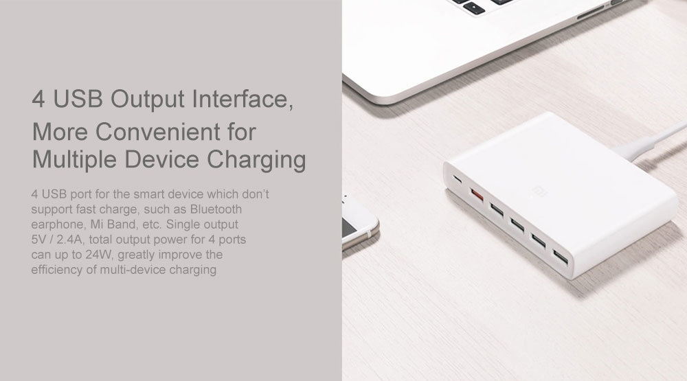 Xiaomi 5 x USB-A 1 x USB-C 60W QC3.0   Adapter