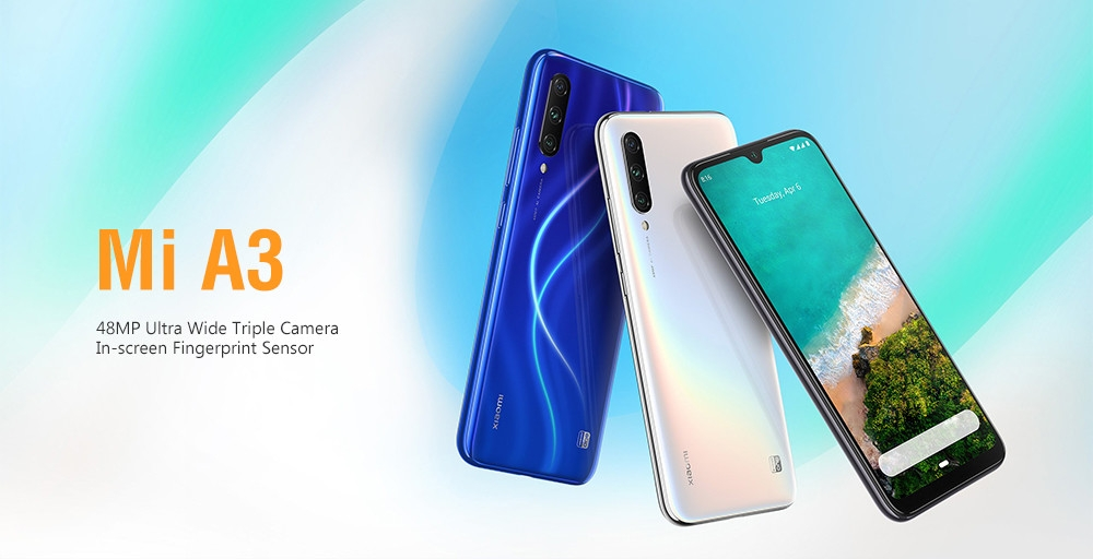 Xiaomi Mi A3 4G Phablet 6.088 inch Android One Snapdragon 665 Octa Core 4GB RAM 128GB ROM 48.0MP + 8.0MP + 2.0MP Rear Camera 4030mAh Battery