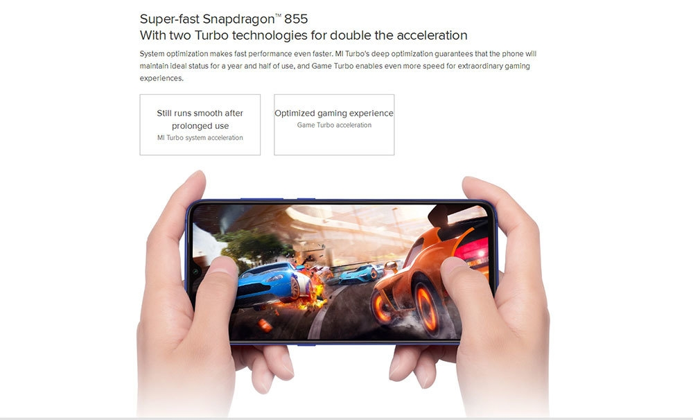 Xiaomi Mi 9 4G Phablet 6.39 inch MIUI 10 ( Android 9.0 ) Qualcomm Snapdragon 855 Octa Core 2.84GHz 6GB RAM 64GB ROM 20.0MP Front Camera Face ID 3300mAh Built-in