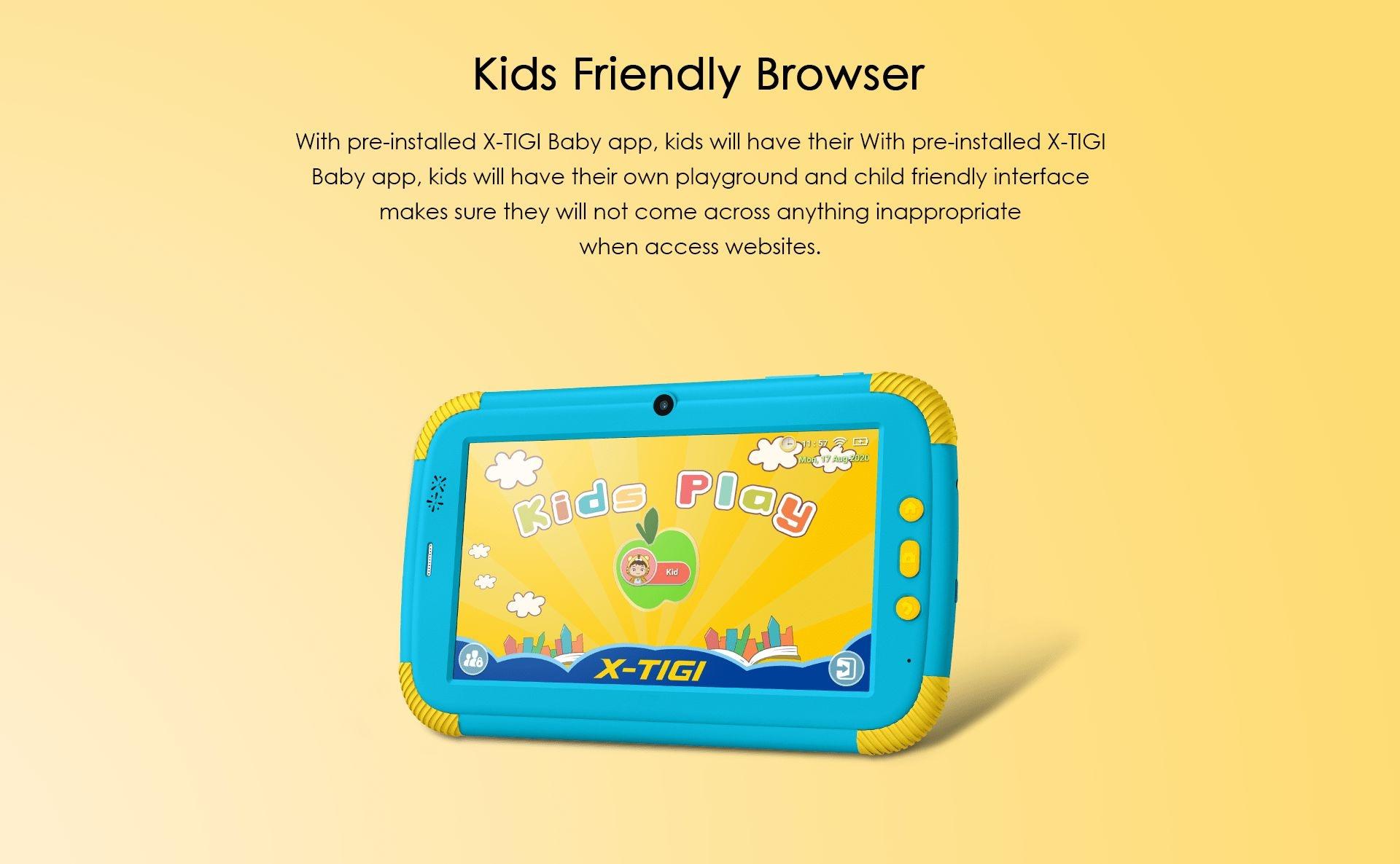 X-TIGI kids tab tablet