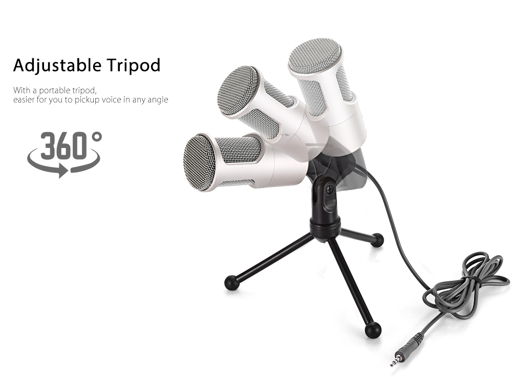 Yanmai SF - 960 Professional Condenser Microphone Omidirectional Pattern with Adjustable Tripod
