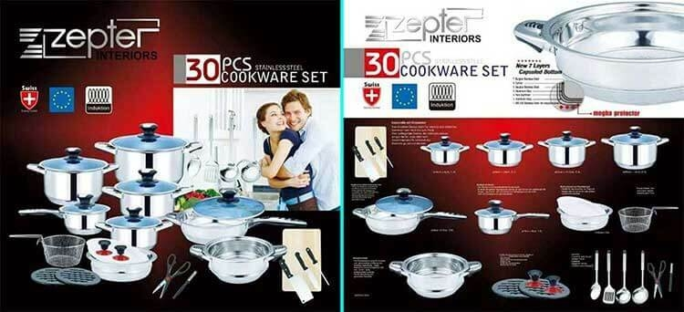 Zepter 30 PCS Heavy Stainless Steel zepter Cookware Set