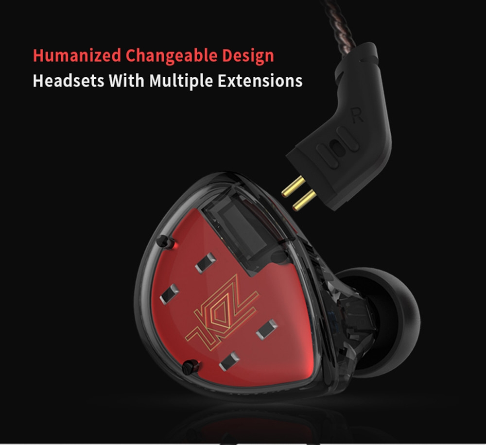KZ ES4 HiFi Hybrid In-ear Earphone Wired Earbuds with Mic