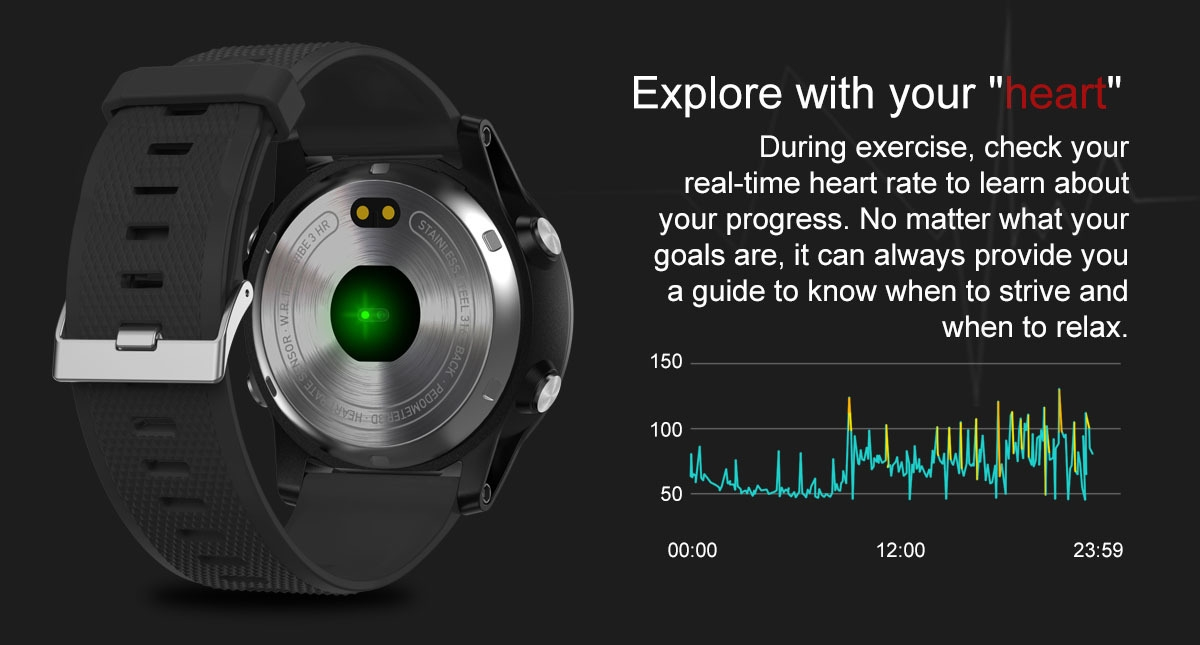 Zeblaze VIBE 3 HR 1.22 inch Sports Smart Watch Bluetooth 4.0 IP67 Waterproof Call / Message Reminder Heart Rate Monitor Blood Pressure Functions