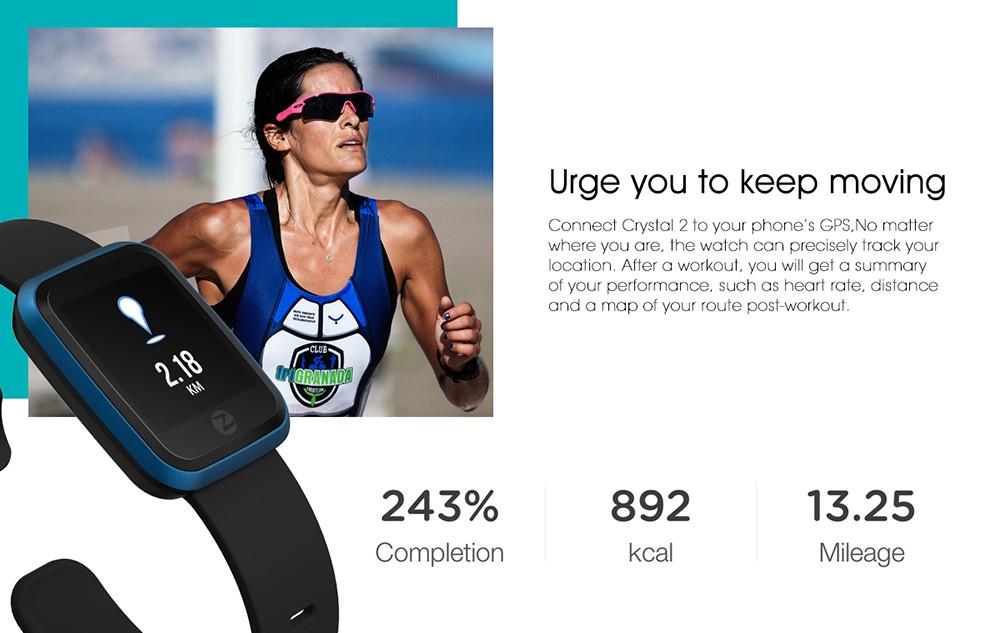 Zeblaze Crystal 2 Smart Bracelet IP67 Waterproof Wearable Device Heart Rate Monitor Color Screen Smart Watch for Android iOS