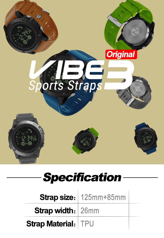 TPU Wrist Watch Band Strap for Zeblaze VIBE 3 Bracelet Replacement