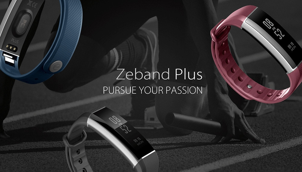 Zeblaze Zeband Plus Smart Wristband Heart Rate Activity Tracker Sleep Monitor