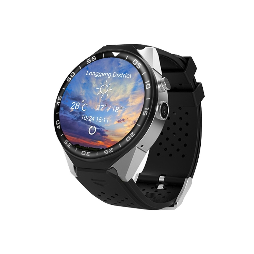 3G Android Smart Watch Phone Heart Rate Monitor Touch Screen Support GPS Wifi SIM Camera App silver 3 13