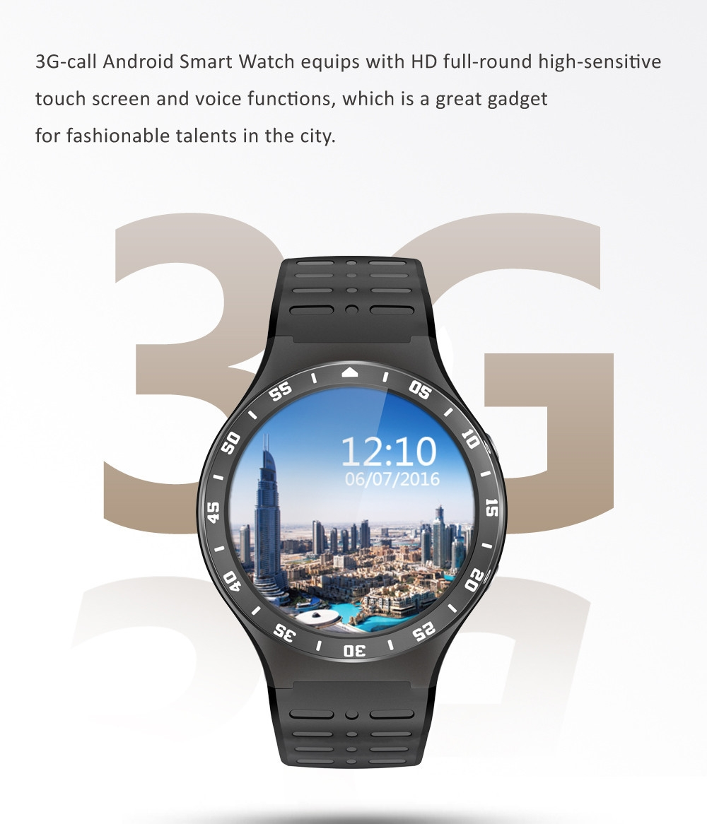 ZGPAX S99A 3G Smartwatch Phone 1.33 inch Android 5.1 MTK6580 Quad Core 1.0GHz 8GB ROM 2.0MP Camera WiFi Bluetooth