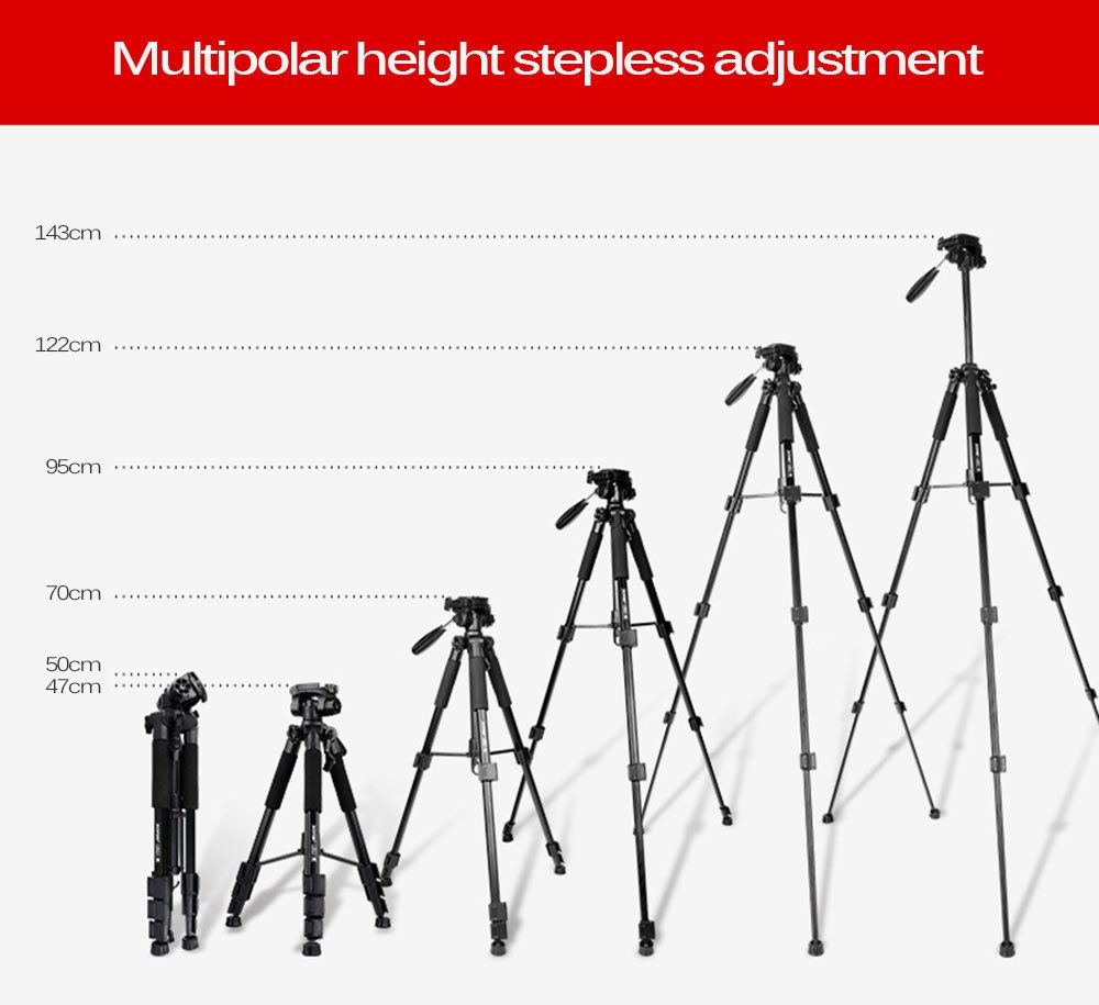 Zomei Q111 56 inch Lightweight Aluminum Tripod with Bag