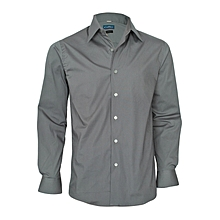 Cadet Grey Long Sleeved Slim Fit Shirt