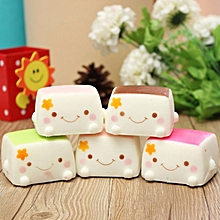 Squishy Tofu Pudding Random Color Decor Toy Gift 6*6*4cm-