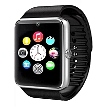 GT08 Smart Watch 1.54 Inch TFT LCD Capacitive Touch Screen Watch Phone, Support 0.3MP Camera / Bluetooth V3.0 / NFC / GSM (Black/Silver)
