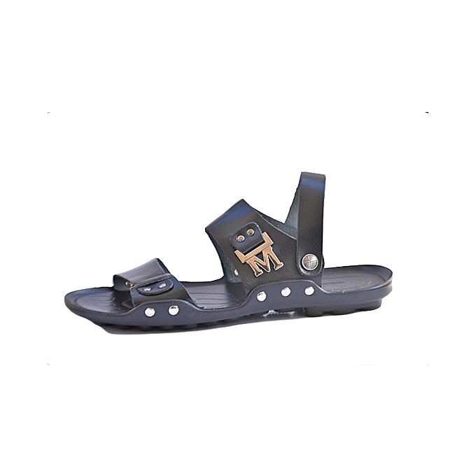 27e02936f09 Black Genuine Leather Men Gladiator Sandals Black Genuine Leather Men  Gladiator Sandals ...