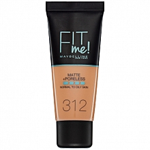 Fit Me Matte And Poreless Foundation 30 ml - 312 Golden