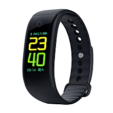 0.96 Inch Screen Smart Bracelet With Blood Oxygen Blood Pressure Monitor black