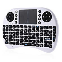 IPazzPort KP - 810 - 21 I8 2.4GHz Mini Wireless QWERTY Keyboard With Touchpad Mouse