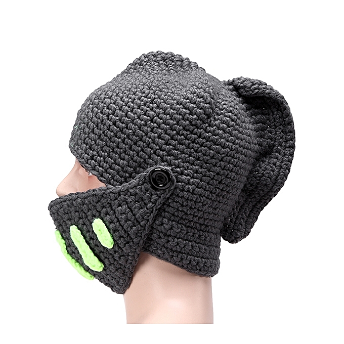 ... Special Offer Solid Adult Novelty Beanie Rome Knight Knitting Hat  Manual Winter Cap ... 02bdf0be463