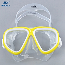 Unisex Water Sports Swimming Diving Mask Snorkeling Equipment - Yellow