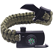 Paracord Bracelet Tactical Handmade Polyester Adventure Accessories Flint Rope