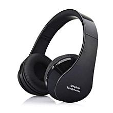 Foldable Wireless Headphone ,Bluetooth Stereo Headset(Black)