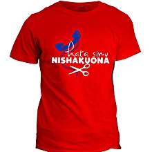 Kata Simu Nishakuona Red  Printed T-Shirt Design