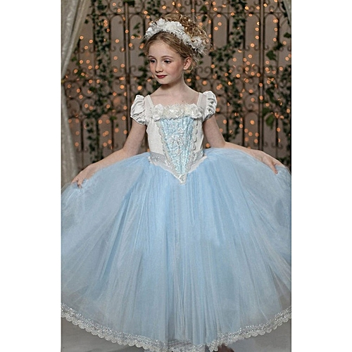 Buy Fashion Flower Princess Wedding Dresses Baby Girl dress-blue ...