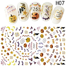 Hequeen  New Hot Pinpai Nail Stickers Christmas Nail Decals Cartoon Nail Stickers Easter Series Halloween Nail Stickers