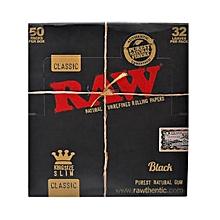 Brown Kingsize raw Rolling Paper Full Box Of 50 Packs
