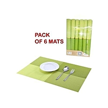 Set of 6 Placemats Table Mat - Green