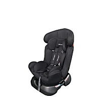 Big size Reclining Car Seat with a Firm Base- Black with White Polka Dots( 0-7 yrs)