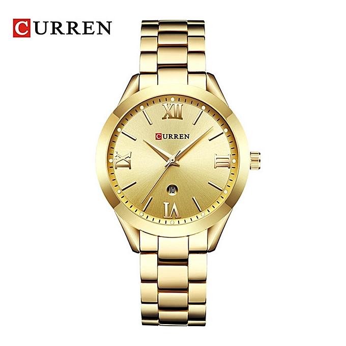 a8e37ead308e CURREN 9007 Rose Gold Watch Women Quartz Watches Ladies Top Brand Luxury  Female Wrist Watch Girl