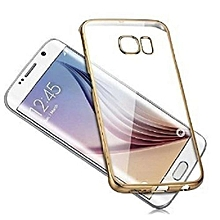 Back Case Cover for Galaxy S7 Edge - Transparent Gold