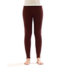 Girls Brown Basic Full Length Leggings