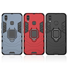Iron Man Finger Ring Coque Car Holder Magnetic Bracket Armor Hard PC Soft Silicone Cover For VIVO X20