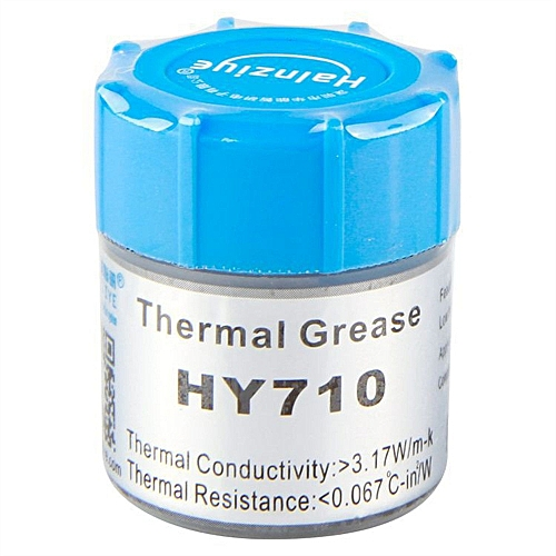 100% New Silver 10g Thermal Grease Paste Compound Chipset Cooling For GPU  CPU VGA HY710