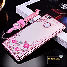 Rhinestone Phone Case Cover Holder Stand Protective Ultra-thin Silicone Soft Case For Huawei G9