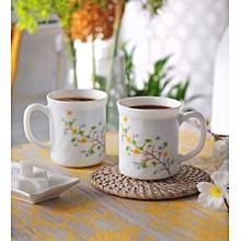 Floral Magic Opal Ware 260 ML Tea Coffee Mug - Set Of 6