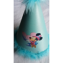Blue Feathered Party Hat - Minnie Mouse