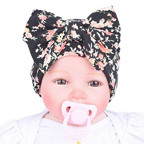 35098cd2e65 Eissely Newborn Hospital Hat Newborn Baby Hats With Flower Bowknot Flower  Hat