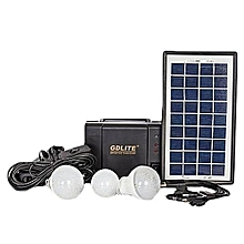 GD 8006 - Solar Panel, LED lights and phone charging Kit