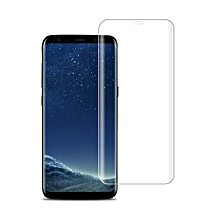 Full Coverage Curved Screen Tempered Glass Protector Film For Samsung S8 Transparent