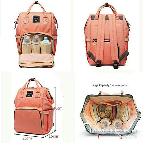 dbfacf13c7b Generic Portable Baby Backpack Diaper Bag for Travel - Pink   Best ...