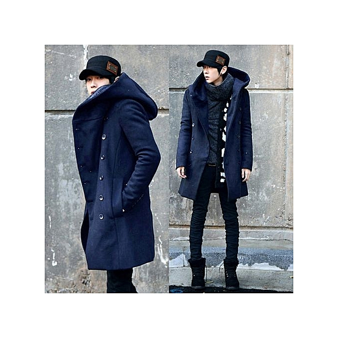 Large Size Mens Autumn And Winter Coat Long Wool Self Cultivation Thickened