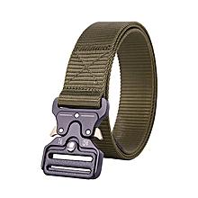 Cobra buckle tactical belt male army fan belt multi-function nylon outdoor training belt-125CM-ArmyGreen
