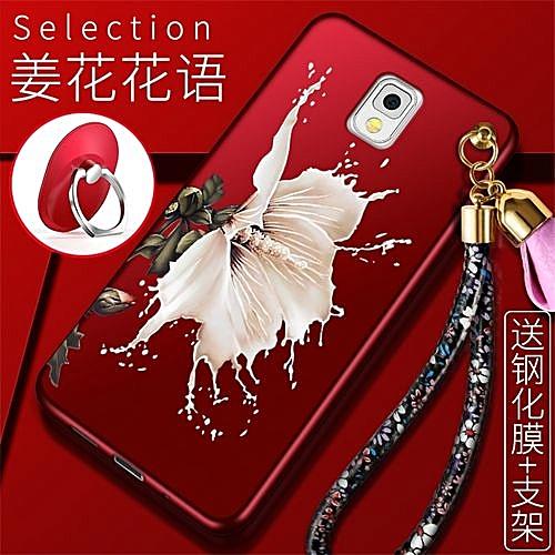 "Generic Silicone TPU Phone Case For Samsung Galaxy Note 3 / N9008V / N9000 / N9005 / N9002 / 5.7"" Inch Luxury Embossed Flowers Shockproof Cover (1X Flower ..."