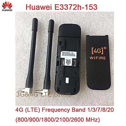 Huawei E3372 E3372h-153 ( add a pair of antenna ) 4G LTE 150Mbps USB Modem  4G LTE USB Dongle E3372s-153 E3372h-607