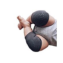 Cotton Anti-slip Baby Knee Protection Pads Cartoon Crawling - Dark Gray