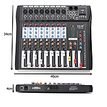CT80S 8 Channel Professional Live Studio Audio Mixer USB Mixing Console US