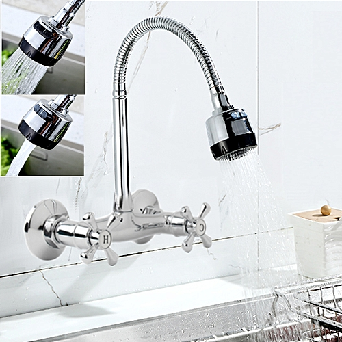 Buy Generic Flexible Spring Kitchen Wall Mounted Sink Spout Faucet